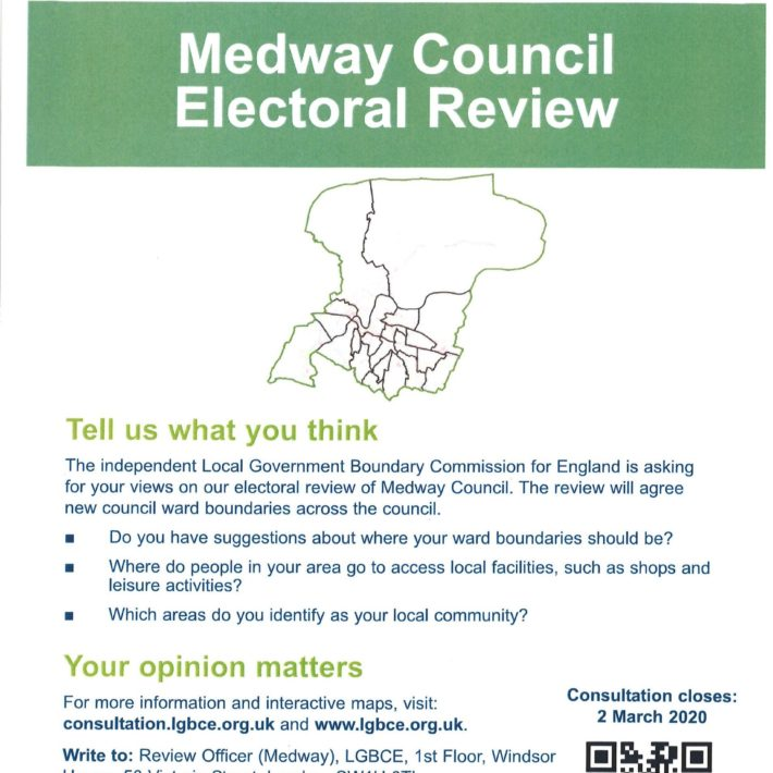 Consultation To Re-draw Ward Boundaries In Medway