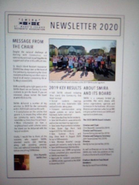 SMIRA's 2020 Newsletter