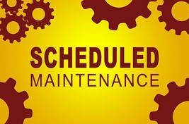 Maintenance For Week Commencing 29th June 2020